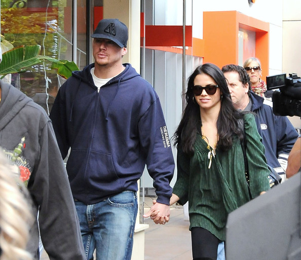 Channing Tatum and wife Jenna Dewan hold hands while picking up Christmas gifts at the Apple store at The Grove. Tatum is seen conveniently wearing a 'The Dilemma' sweatshirt - which is the actor's upcoming film set for release on January 14th co-starring Vince Vaughn and Kevin James.