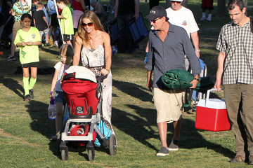 Charlie Sheen Sam Sheen Charlie Sheen and Denise Richards Watch Their Daughter's Soccer Game