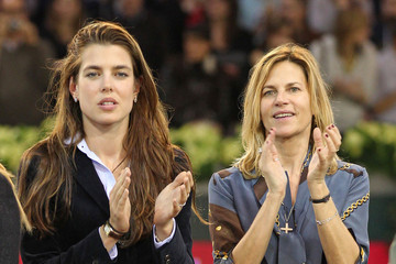 Virginie Couperie Charlotte Casiraghi at the Gucci Masters Tournament