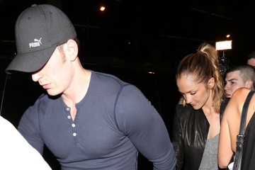Chris Evans Chris Evans and Minka Kelly at Bootsy Bellows