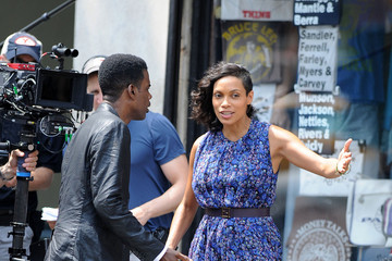 Chris Rock Rosario Dawson The Untitled Chris Rock Project Films in NYC — Part 3
