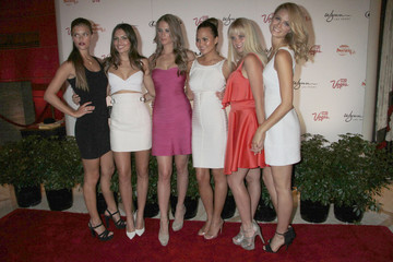 Chrissy Teigen Nina Agdal Alyssa Miller celebrates 'Summer Of Swim' along with other Sports illustrated Swimsuit Models at Surrender Nightclub at Wynn Las Vegas & Encore Resort