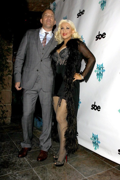 Christina Aguilera A lingerie-clad Christina Aguilera at the Abbey in West ...