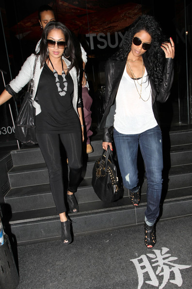 Photo of Ciara & her friend tv-personality  LaLa Vasquez - Longtime