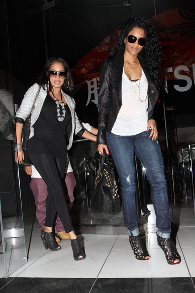 Ciara and La La Anthony - Ciara and Lala Vasquez Outside Katsuya ...