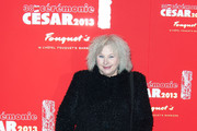 Yolande Moreau at the gala dinner following the 38th Cesar ceremony at Fouquet's restaurant in Paris.