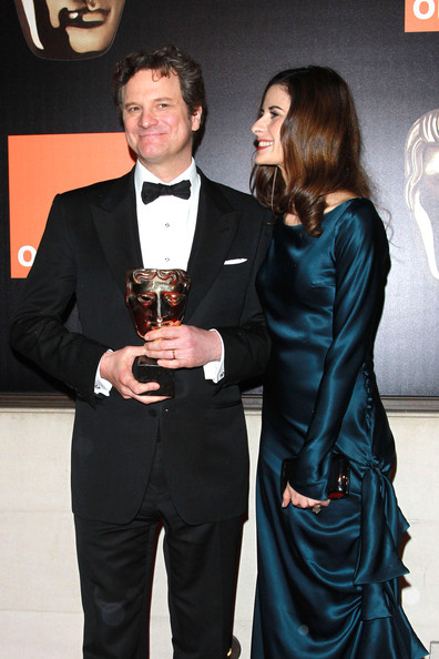 "Colin Firth Colin Firth and Livia Giuggioli at London's Grosvenor House Hotel for the BAFTA's after-party. Colin won the Best Actor BAFTA for his portrayal of King George VI in ""The King's Speech""."