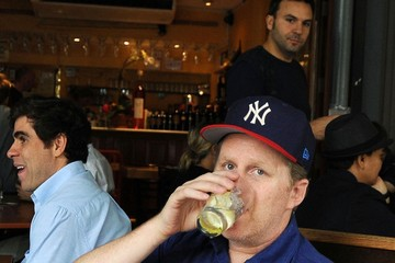 New York Yankees Michael Rapaport at Bar Pitti in NYC