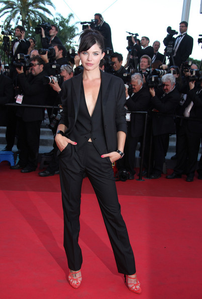 "Delphine Chaneac attends a screening of ""This Must be the Place"" at the Cannes Film Festival."
