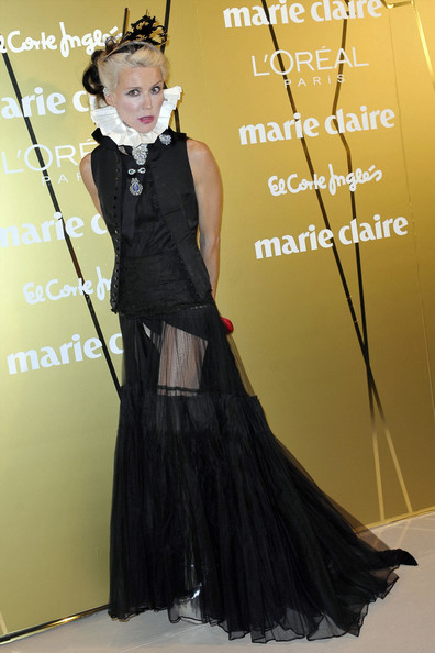 Daphne Guinness Artist Daphne Guinness is spotted at the 2011 Marie