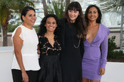 Deborah Mailman, Miranda Tapsell, Shari Sebbens, and Jessica Mauboy at a photocall for 'The Sapphires' at the Cannes Film Festival 2012.