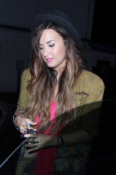 Demi Lovato Wednesday September 28 2011.Demi Lovato keeps her head down after an evening at Crave where she grabbed a bite to eat. Earlier in the evening Demi was spotted at the Roosevelt with friends.