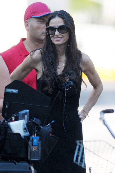 Demi Moore Directs a Commercial in NYC