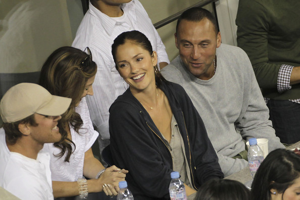 Derek Jeter and Minka Kelly at the US Open in New York
