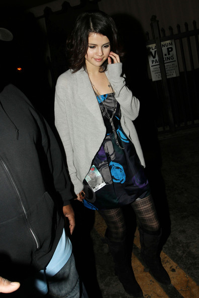 Selena Gomez Disney sensation, Selena Gomez, makes time for her fans after checking out a concert at Bardot in Hollywood.