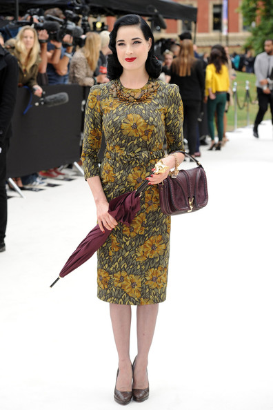Dita Von Teese - Harry Styles at the LFW Burberry Prosum Spring/Summer 2013 runway show at London Fashion Week