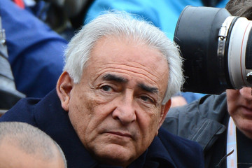 Dominique Strauss-Kahn Celebs Watch the French Open in Paris