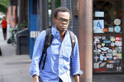 'The Electric Company' star William Jackson Harper out and about in New York City.