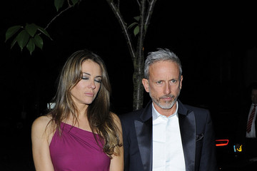 Elizabeth Hurley Patrick Cox Elizabeth Hurley and Patrick Cox Out Late in London