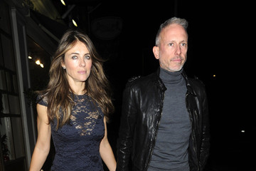 Elizabeth Hurley Patrick Cox Elizabeth Hurley Out Late with a Friend