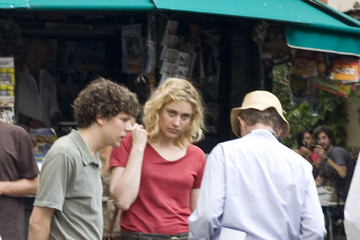 Woody Allen Jesse Eisenberg Elliot Page On the Set of 'Bop Decameron' in Rome