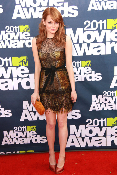 Emma Stone Emma stone dazzles at the 2011 MTV Movie Awards in Studio City.