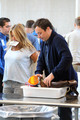 Emmy host, Jimmy Fallon is seen going through airport security at LAX alongside his wife Nancy Juvonen before boarding a flight to NYC.