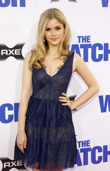 of  The Watch  held at the Erin Moriarty The Watch Red Dress