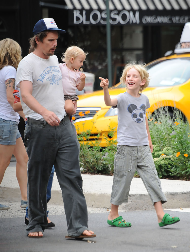 Levon Roan in Ethan Hawke Out with His Kids in NYC - Zimbio