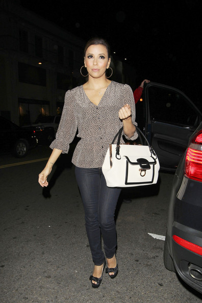 Eva Longoria Eva Longoria arrives at her restaurant 'Beso' for a business meeting in Los Angeles.