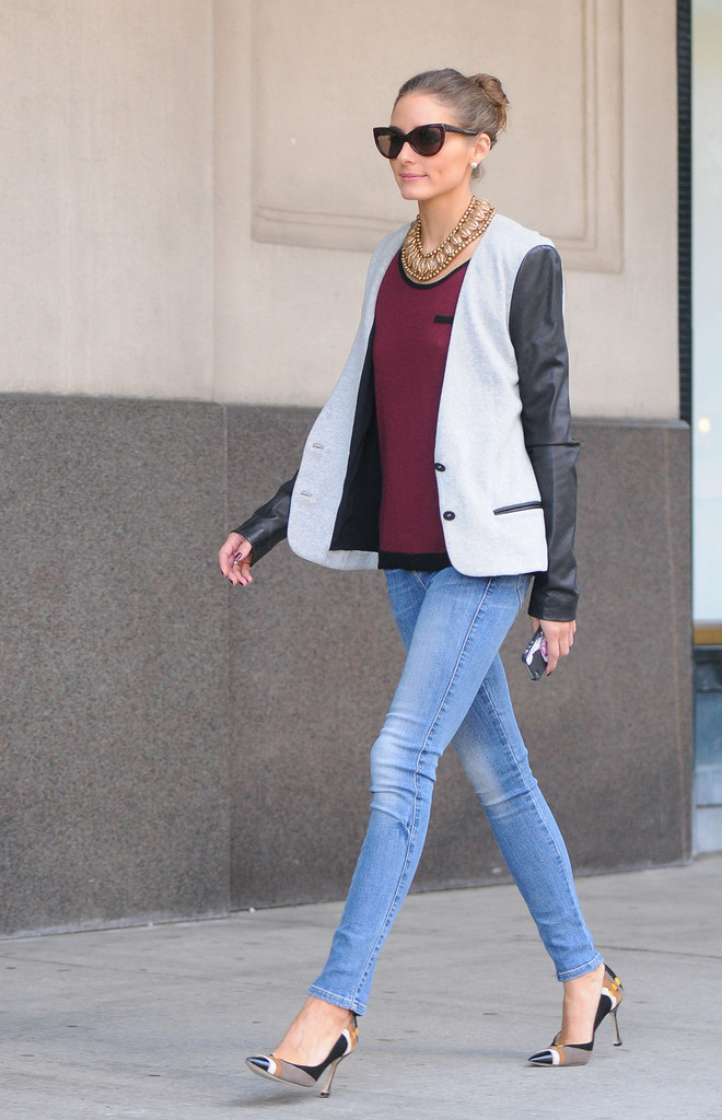 Olivia Palermo Photos Photos Fashion And Style Icon Olivia Palermo Looks Cool As She Is Seen
