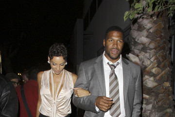 Michael Strahan Nicole Murphy Celebs at The Millenium Network Event