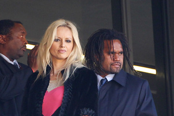 Adriana Karembeu Christian Karembeu Felipe Calderon and Sepp Blatter at the World Cup