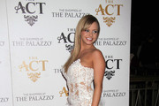 Bree Olson hosts AVN Friday at The Act night club at the Palazzo Hotel and Casino in Las Vegas.