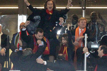 Jan Peter Balkenende The Spanish Royal Family Celebrates at the World Cup