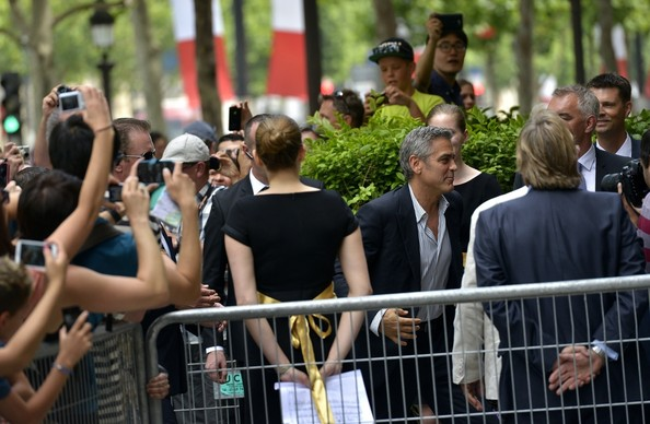george clooney greets his fans in paris in this photo george clooney