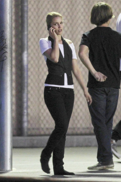 "dianna agron with boyfriend. ""Glee"" star Dianna Agron looks very gleeful in the company of her new,"