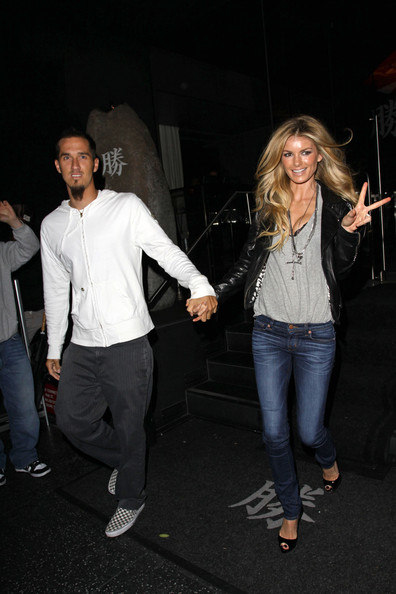 Marisa Miller with cool, Husband Griffin Guess