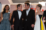 Guillaume Canet, Marion Cotillard, Clive Owen and Zoe Saldana attend the Premiere of 'Blood Ties' during the 66th Annual Cannes Film Festival at the Palais des Festivals.