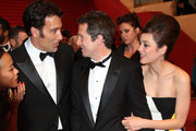 Zoe Saldana, Clive Owen, Guillaume Canet and Marion Cotillard leave the Premiere of 'Blood Ties' during the 66th Annual Cannes Film Festival at the Palais des Festivals in Cannes.