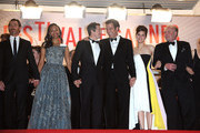 Billy Crudup, Zoe Saldana, Guillaume Canet, Clive Owen, Marion Cotillard and James Caan leave the Premiere of 'Blood Ties' during the 66th Annual Cannes Film Festival at the Palais des Festivals in Cannes.