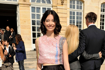 Hannah O'Neill PFW: Arrivals at Christian Dior