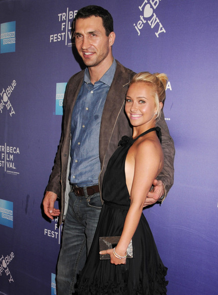 "Hayden Panettiere Boxer Wladimir Klitschko and girlfriend Hayden Panettiere dazzle on the red carpet at the premiere of ""Klitscko""  at the 10th Annual Tribeca Film Festival at the SVA Theatre."