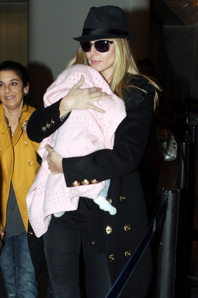 heidi klum youngest daughter. Heidi Klum Heidi Klum arrives in Los Angeles, via LAX airport,