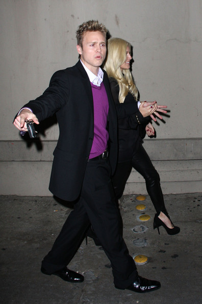 "Heidi Montag - Heidi and Spencer Pratt Outside the Hollywood studios of ""Jimmy Kimmel Live!"""