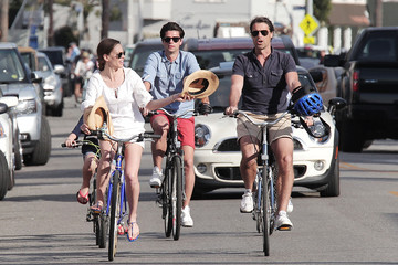 Hilary Swank Hilary Swank and Boyfriend Laurent Fleury at Venice Beach