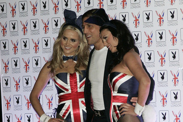 Alex Reid Hugh Hefner is seen with his fiance Crystal Harris at the opening of the Playboy Club in London