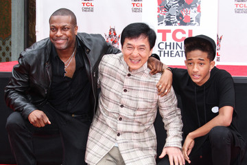 Jackie Chan Jaden Smith Jackie Chan's Hand and Footprint Ceremony