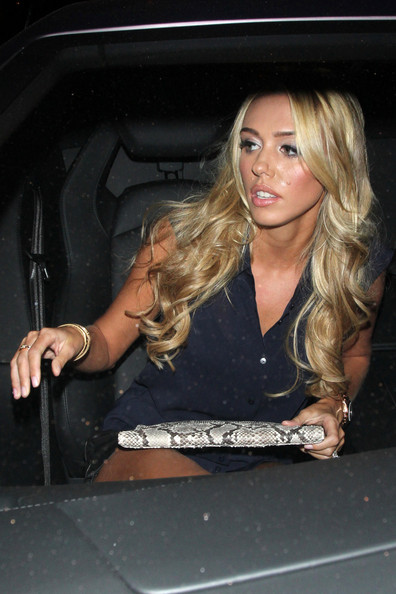 Newlywed Petra Ecclestone shows off her wedding bling as she dines out with