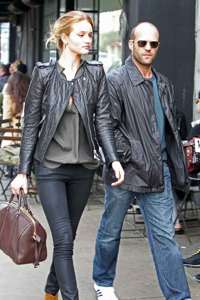 Jason Statham And Rosie Huntington Whiteley At Joan S On